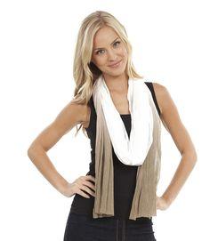 Super cute dip dye mesh scarf #style