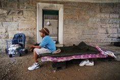 A man who goes by the name of Poppy Cali has been homeless on the streets of Washington, D.C., since July 2008. The Navy veteran makes his home nowadays near the Kennedy Center.