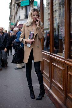 Street Style Spring 2013 - Paris Fashion Week Street Style - Harpers BAZAAR find more women fashion ideas on www.misspool.com