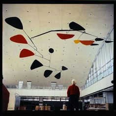 Calder looking at Calder. Never get tired of his work.