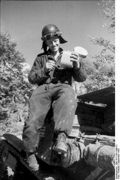 Italian member of panzer crew.Albania  September 1943