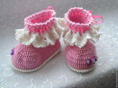 """Для новорожденных, ручной работы. Ярмарка Мастеров - ручная работа Пинеточки розовые """"Кружево """". Handmade."""