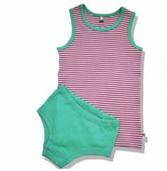 Green Cotton Paula Σετ Εσωρούχων για Κοριτσάκια Green Cotton, Underwear, Bodysuit, Tops, Women, Fashion, Onesie, Moda, Fashion Styles