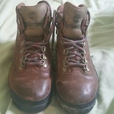 Hiking boots Lace n hook hiking boots wore only a handful of times see pic for wear Timberland Shoes