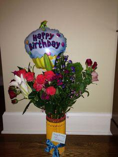 Pencil vase for teachers birthday