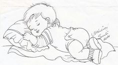 Menino Baby Painting, Fabric Painting, Baby Coloring Pages, Coloring Books, Baby Embroidery, Embroidery Patterns, Children Sketch, Baby Drawing, Digi Stamps