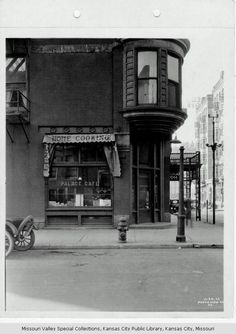 """Palace Café - In 1923, KC people danced in all night marathons, cruised the Subway Club at 18th & Vine streets and dipped, dived, dropped and climbed on """"the highest, fastest longest, most thrilling ride in the world"""" - the Skyrocket roller coaster at the new Fairyland amusement park, which was built in 1923 at 75th street and Prospect Ave. The roaring '20s, some called it."""
