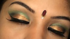 Bollywood+Inspired+Indian+Bridal+Wedding+Make+up+Tutorial+Gold+and+Green+eye+makeup+for+Brown+skin+tone+.Still001.jpg (1600×900)