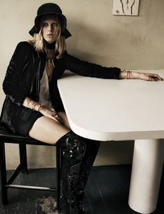 thigh high boots editorial - Google Search
