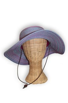 Cute and colorful women's UPF 50 sun hat with chinstrap. Perfect during those outdoor activities you want to look fashionable. Multiple colors available.