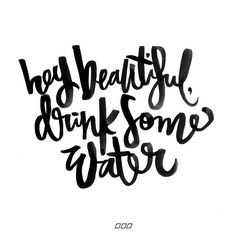 When I'm traveling I can easily get to the end of my day and realise my water intake was not what it should be ... So thought I'd send a reminder out to all of us ... Happy hydrating for increased energy and beautiful skin Lx