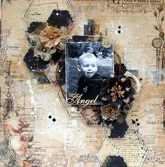 Little Angel / Scraps Of Elegance June Kit - Prima - Time Travelers Memories Collection