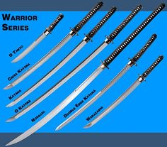 Warrior Series of Katana Arte Ninja, Arte Robot, Samurai Swords Katana, Samurai Art, Ninja Weapons, Weapons Guns, Swords And Daggers, Knives And Swords, Martial Arts Weapons