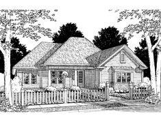 Eplans Cottage House Plan - Four Bedroom Cottage - 1709 Square Feet and 4 Bedrooms from Eplans - House Plan Code HWEPL60814