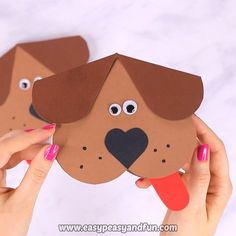 Tinker Heart Dog - DIY Valentine& Day card idea - easy easy and fun . - Heart Dog Crafts – DIY Valentine& Day Card Idea – Easy, Easy and Fun – - Kids Crafts, Dog Crafts, Toddler Crafts, Easy Crafts, Diy And Crafts, Arts And Crafts, Valentines Bricolage, Valentine Day Crafts, Diy Dream Catcher