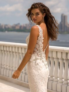eve of milady boutique fall 2015 beautiful sheath wedding dress lace straps v neckline beaded lace embroidery low cut open v back 1553 -- Eve of Milady Fall 2015 Wedding Dresses Eve Of Milady Wedding Dresses, Used Wedding Dresses, Long Bridesmaid Dresses, Wedding Dress Styles, Bridal Dresses, Wedding Gowns, Wedding Bells, Wedding Bride, Fall Wedding