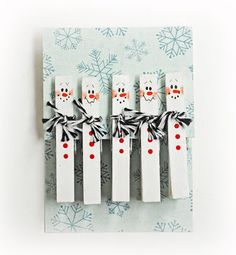 Ben Franklin Crafts and Frame Shop: D.I.Y. Snowman Clothespins