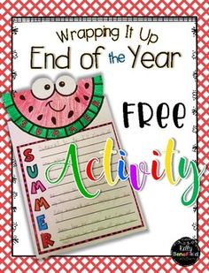 Free end of the year writing activity for your classroom.