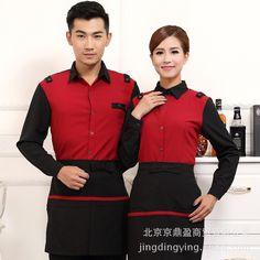 Women Chef Uniform Real Chef Uniform Cotton Fashionable New Style Hotel Restaurant Service Staff Work Wear Long Sleeved Apron