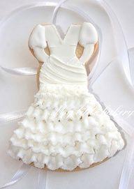 Wedding dress cookie #celebstylewed @celebstylewed