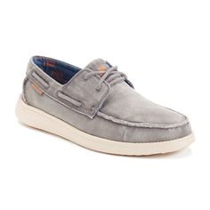 Skechers Relaxed Fit Status Melec Men's Boat Shoes, Size: 10.5, Grey (Charcoal)