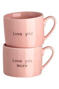 2 фарфоровые кружки - Светло-розовый - HOME | H&M RU 1