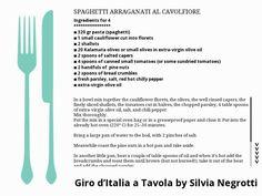 SPAGHETTI ARRAGANATI AL CAVOLFIORE Kalamata Olives, Italian Recipes, Spaghetti, Pasta, Noodle, Pasta Recipes, Pasta Dishes