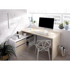 Cozy Home Office, Home Office Space, Home Office Decor, Office Desks For Home, Office Room Ideas, Home Offices, Bedroom Office Combo, Ikea Office, Home Room Design