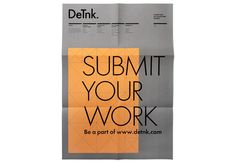 DeTnk / Call for entries poster for design and art collectors company. 2008 / Marnich #grafica #poster