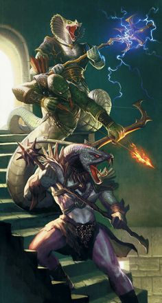 Yuan-ti Malisons Picture fantasy, painting, dragons, concept art, role playing) ~ Dungeons and Dragons 3d Fantasy, Fantasy Races, Fantasy Monster, Medieval Fantasy, Fantasy World, Dark Fantasy, Magical Creatures, Fantasy Creatures, Fantasy Character Design