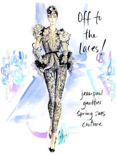 """Let's Go…""""Off to the Laces!"""" @jenniferlilya #fashionillustration  Jean Paul Gaultier Spring 2015 Couture xoxo"""