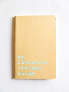 Vintage Shop notebook; MOLESKINE® journal for all vintage lovers! www.alfamarama.etsy.com  #vintage #vintagebook #vintageshop #yellow #pastel #summer #pinup #burlesque #retro
