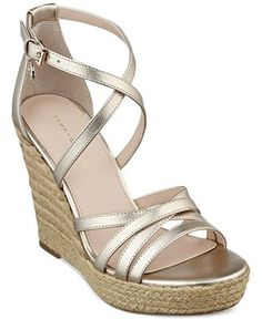 35c68a497d3 Women s Clarks Annadel Orchid Wedge Slingback - Gold Metal with FREE  Shipping   Exchanges. Put your best foot forward wearing the…