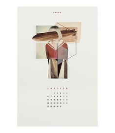 Calendario 2014 - Mykel Lima. really like the idea of collaged calandarr - time and memory rehashing the reality. nice.