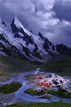 K2 - Base Camp - a world away but we love this sense of adventure http://SierraSpirit.biz/ (CA backpacking guides)