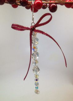 DIY Crystal Beaded Icicle Ornament
