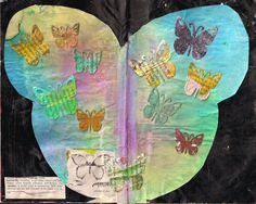 butterfliecrafter: blog post catch up letters B and F - Trial and error #butterflies #spray ink