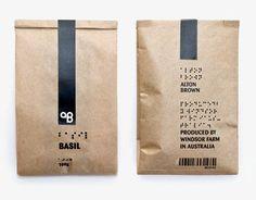 herbs / packaging / braille