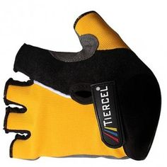 Bicycle Half Finger Gloves Mountain Bike Cycling Gloves Yellow, M By BSK -- You can find out more details at the link of the image.