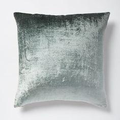 Ombre Velvet Pillow Cover - Blue Stone | west elm