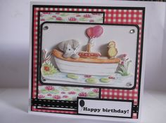 Helz Cuppleditch Riverbank revels paper and decoupage Birthday Cards, Happy Birthday, Bear Card, Craftwork Cards, Tatty Teddy, Decoupage, Card Ideas, Projects To Try, Birthdays