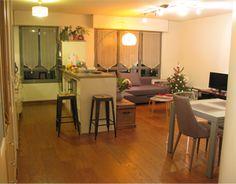 Aménagement avec choix de mobilier d'un salon/salle à manger Bar, Table, Furniture, Home Decor, Dinner Room, Living Room, Decoration Home, Room Decor, Tables