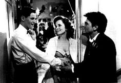 Back To The Future Marty, Lorraine and George McFly Talking at the Enchantment Under the Sea Dance Premium Art Print