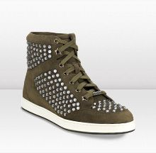 Jimmy Choo TOKYO ~ Military Suede Sneakers with Studs