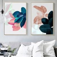 Nordic Art Paintings Wall Pictures For Living Room Posters Plants Leaves Wall Art Canvas Painting Posters And Prints Unframed