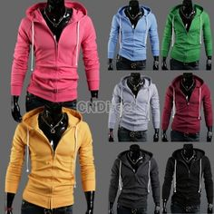 25% off Fashion Stylish Slim Fit Hoodies Long Sleeve Jackets Coats Hoodie Zip