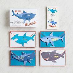 Shark Love Valentine's Card Set