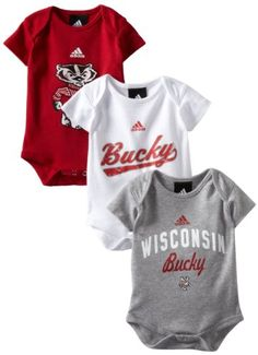 Amazon.com: NCAA Wisconsin Badgers Infant 3 Pack Creepers: Clothing