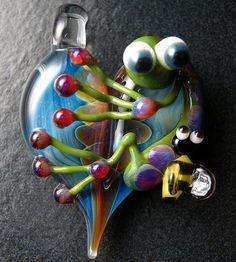 MUSHROOM Pendants 100 Large Glass Mushroom Bead Lot WHOLESALE Focal Mixed #2