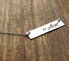 Be Still Necklace Christian Necklace For Him Bible Verse